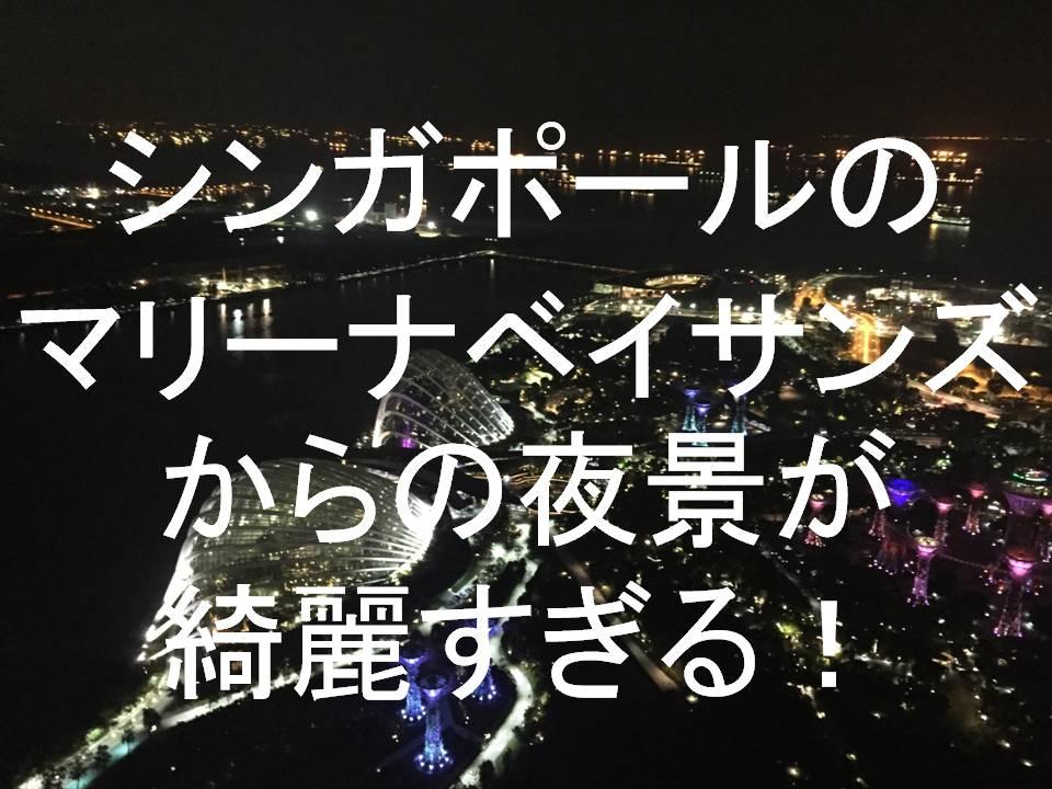 シンガポールマリーナベイサンズ夜景